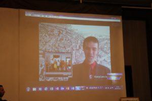 トゥールーズ仏日協会副会長とのスカイプでの交信画面